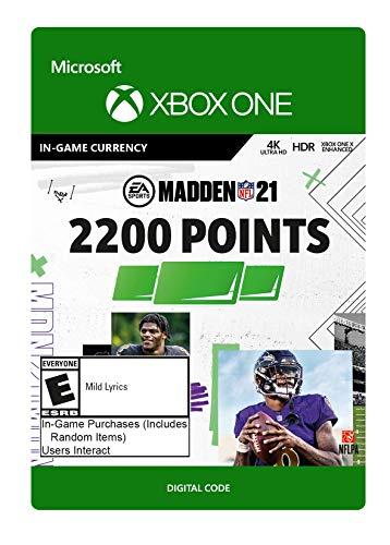 Madden NFL 21: 2200 Madden Points - Xbox One [Digital Code]