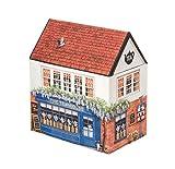 Buzz - Contenitore in latta a forma di casetta con coperchio a forma di tetto: Casetta per tè, pasticceria o dolci – 13,5 cm La casa del tè