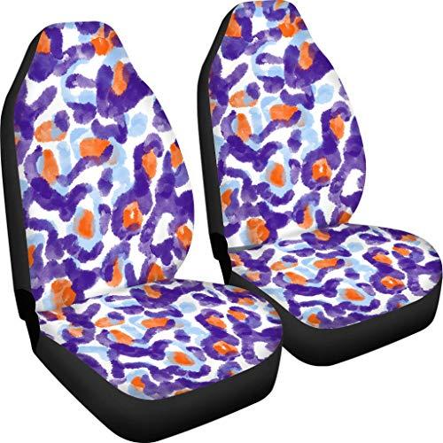 Amzbeauty Fundas elásticas para asiento de coche, 2 piezas, para asiento trasero, compatible con la mayoría de coches, maleteros, SUV o furgonetas.