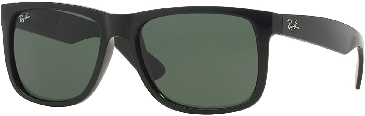 San Jose Mall Ray-Ban Justin RB4165 Unisex Classic mm Gifts Sunglasses 54 Bl Shiny