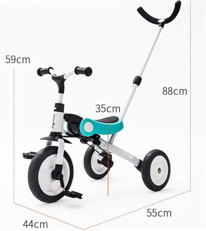 WYD Baby Dreirad Kinder Faltrad Kinder Roller Outdoor Fahrt Auf Spielzeug 2-5 Jahre,Blau