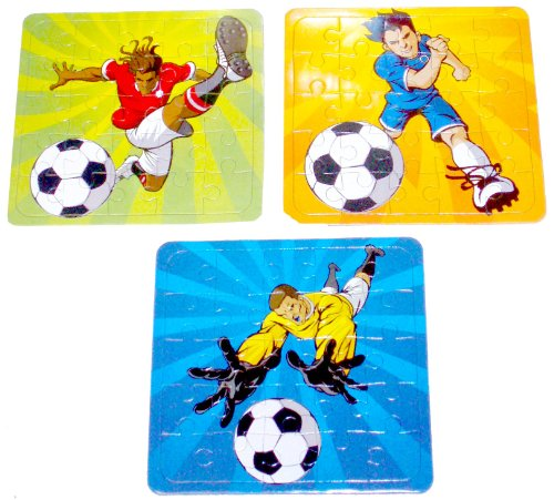 Football Puzzle - - Assorted Designs - Great Party Loot Bag Stocking Filler by MunchieMoosKids