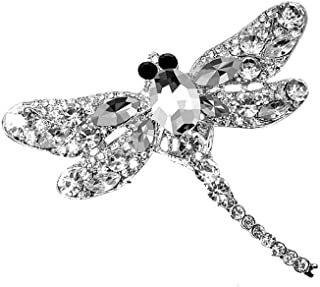 CAIYCAI Gifts Crystal Dragonfly Brooches for Women Large Insect Brooch Pin Dress Coat Cute Jewelry