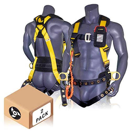 KwikSafety ANSI Fall Protection Full Body Safety Harness