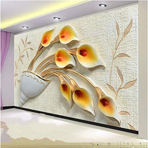 Avikalp Exclusive AWZ0353 3D Wallpaper Horseshoe Tulip Cup Plum Bedroom Tv Wall HD 3D Wallpaper(518cm x 304cm)