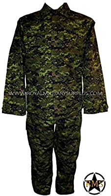 Royal Military Surplus Combat BDU Uniform - Canada Army Digital Camouflage - Airsoft & Paintball Gear - CADPAT (Temperate Woodland)