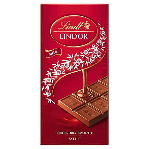 Lindt Lindor Milk Chocolate Bar - 100 g - The Perfect Treat - Chocolate with a Smooth Melting Filling