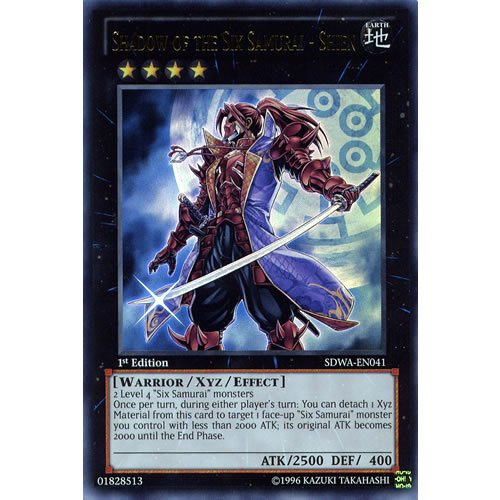 YuGiOh : SDWA-EN041 1st Ed Shadow of the Six Samurai - Shien Ultra Rare Card - ( Samurai Warlords Yu-Gi-Oh! Single Card )