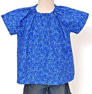 半袖スモック(身長120cmサイズ)【さわやか青空サイクリング】 N1327320 幼稚園スモック 遊び着 園児