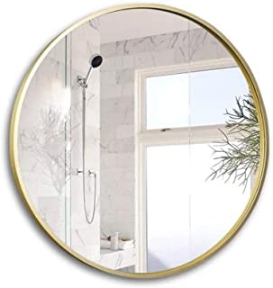 WYXIAN Large Round Bathroom Living Room Bedroom Wall-Mounted Makeup Decorative Circle Frame (Size : 70CM)