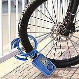 Jopwkuin App Control Candado de Cadena Impermeable Azul Adecuado para Puerta de Bicicleta Interior y Exterior