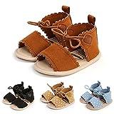 Infant Baby Girls Boys Summer Sandals Premium Unisex Non Slip Rubber Soft Sole Toddler First Walker Outdoor Beach Shoes Brown 13CM