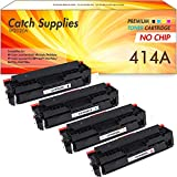 No-Chip Catch Supplies Compatible Toner Cartridge Replacement for HP 414A W2020A W2021A W2022A W2023A for HP Color Laserjet Pro MFP M479FDW M479FDN M454DW M454DN (Black Cyan Magenta Yellow, 4-Pack)