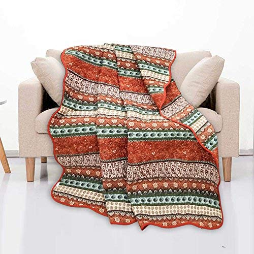 Quilted Vintage Boho Pattern Large Cotton Throws