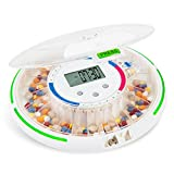 Live Fine Bluetooth Pill Dispenser, Automatic 28 Day Pill Delivery System with Alarm, Flashing...
