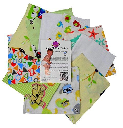 Babymajawelt® Mama Mini agnos Molton flanellen luiers mini 40/35-10 Pack - zachte spuugdoeken, washandjes unisex