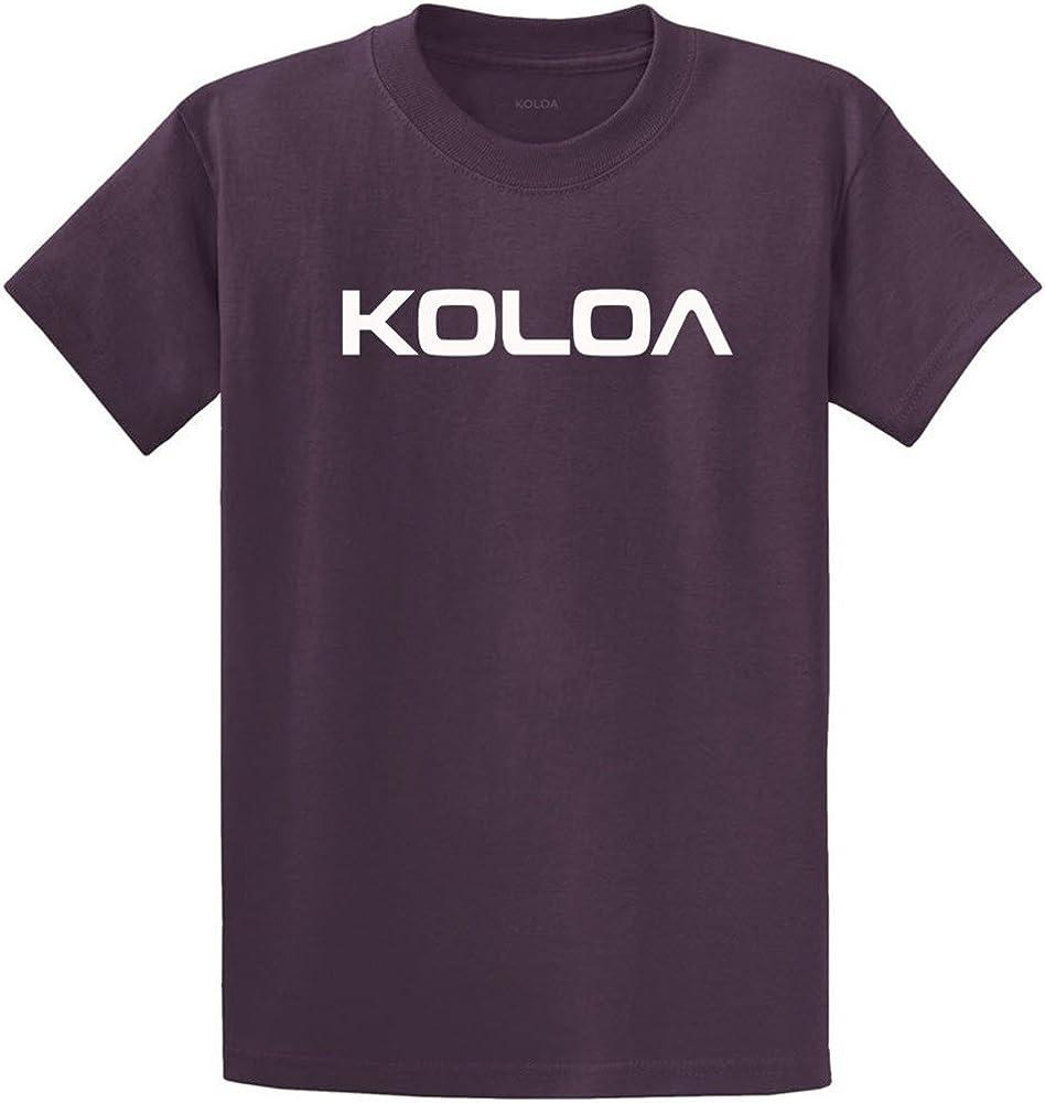 Joe's USA Koloa Surf(tm) Text Logo Cotton T-Shirts in Size 4X-Large Tall -4XLT