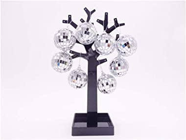 24 Pcs Silver Disco Mirror Ball for Party Decoration, Christmas Tree Wedding Birthday Party Ornaments
