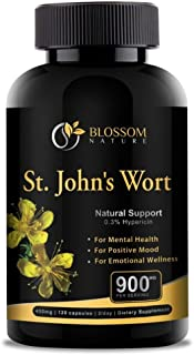 St.John's Wort 900mg Supplement-Natural Antidepressant for Mood Boost, Anxiety & Depression Support-Provides Extended Stre...
