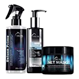 Truss Hair Protector - Lightweight Gel/Cream Leave-in Bundle with Net Mask- Intensive Repair Mask and Deluxe Prime Hair Treatment