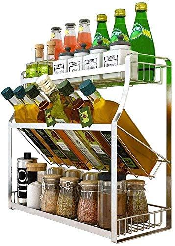 Regaleinsatz im Küchenschrank Erweiterbarer, stapelbarer Gewürzregal-Organizer im Schrank mit Löchern Aufbewahrungslösung für Gewürze