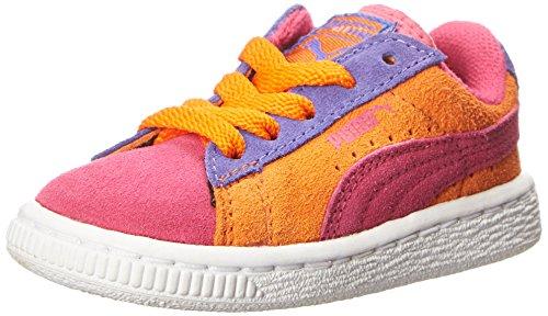 PUMA Suede Sneaker (Infant/Toddler/Little Kid) , Fuchsia Purple/Vibrant Orange/Blue Iris, 9 M US Toddler