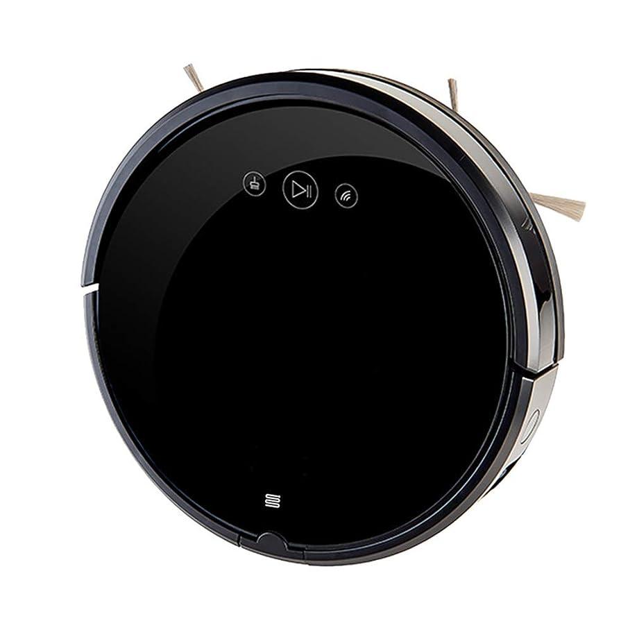十分ですきちんとしたバーベキュー無線 ロボット掃除機、超薄型、静音、自己充電式ロボット掃除機は、硬い床を中パイルカーペットに掃除します インテリジェント, black