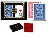 DA VINCI Ruote, Italian 100% Plastic Playing Cards, 2-Deck Poker Size Set, Regular Index, w/2 Cut Cards