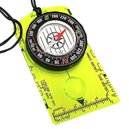 Orienteering Compass - Hiking Backpacking Compass - Advanced Scout Compass Camping and Navigation - Boy Scout Compass for kids - Professional Field Compass for Map Reading - Best Survival Gifts