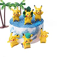 6 Pcs Cute Video Game Inspiration Cake Toppers,Video Game Inspiration Cupcake Toppers Picks for Kids Birthday Party, Baby Shower Cake Decorations for Boy and Girl