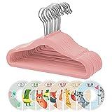 ManGotree Perchas de Terciopelo para bebés y niños pequeños, Antideslizantes...
