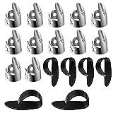 18 PCS Stainless Steel Finger Picks Set, Guitar Thumb Picks Banjo Picks Thumb Plectrum Adjustable Guitar Finger Picks Metal Thumb Finger Picks for Acoustic Guitar Banjo Autoharp