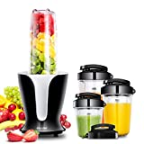 Comfee Personal Blender Mixer for smoothies, juice with 4 Different Size Portable Bottles