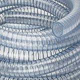 Saugschlauch 45 mm *TRANSPARENT Klar Spiralschlauch Förderschlauch Pumpen Druckschlauch (20 m)