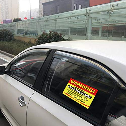 50 Private Parking Stickers, You Have Parked in A Private Parking Area, Reserved No Permit Area Violation Warning Notice Vehicle is Illegally Parked - Large Size 6 X 9 inches Photo #4