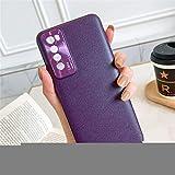 BEIJING ♋ PROTECTIVECOVER+ / for Huawei Nova 7 Caja de Cuero Pendientes Pendientes Todo Incluido con protección de la Lente, Fashion Phone Funda para Protector (Color : Purple)