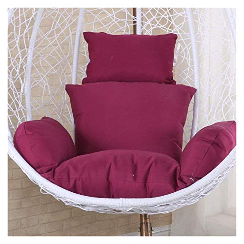 ZHZH Outdoor/Indoor Furniture Chair Cushion Egg Chair Seat Cushion, Hanging Egg Hammock Chair Cushions,Without Stand Solid Color Wicker Swing Seat Cushion Thick Nest with Pillow (Color : Purple)