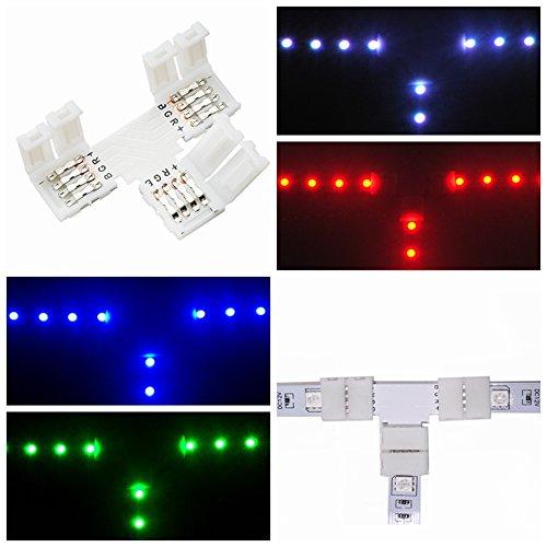4pin 8 10mm RGB PCB Eckverbinder für einfarbige LED Streifen Licht YR 5X 2
