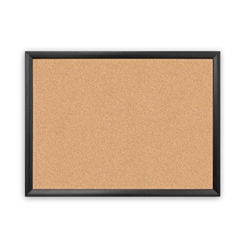 U Brands Cork Bulletin Board, 23' x 17', Black Wood Frame (026U00-01)