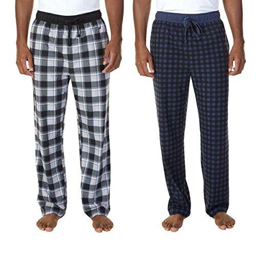 Nautica Mens 2 Pack Fleece Sleepwear Pants (Mood Indigo (4MD), Large)