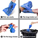 Bags on Board Dog Waste Bag Bone Dispenser with 30 Refill Bags, Blue Bags