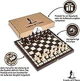 Amazinggirl Schachspiel Schach Schachbrett Holz hochwertig - Chess Board Set klappbar mit Schachfiguren groß für Kinder und Erwachsene 26 x 26 cm - 3
