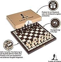 Scacchiera in Legno Professionale Scacchi - Chess, Scacchiere Set Portatile Gioco da Viaggio per Adulti Bambini 26 x 26 cm #2