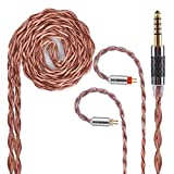 4.4mm Balanced Cable Upgrade Yinyoo 4 Core Copper Alloy Cable with 2pins 0.78mm Connectors Headphone Replacement Cable for Earphones ZST ZS10 ZSR ZS3 ZS6 ZS4 AS10 ED16 TRN V80 CCA C10 C16(2pin 4.4mm)