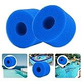Cartucho de filtro de bañera de hidromasaje de espuma de filtro de piscina lavable reutilizable de 2 piezas para tipo S1