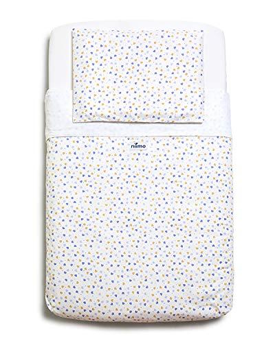 Niimo Lenzuola Next to Me Compatibili (Set 3pz + Trapunta 450g) 100% Cotone per culla cosleeping Chicco Lullago Kinderkraft UNO Cullami Cam Jane Babyside Brevi dimensioni 50x83(Cuori 3 Colori)
