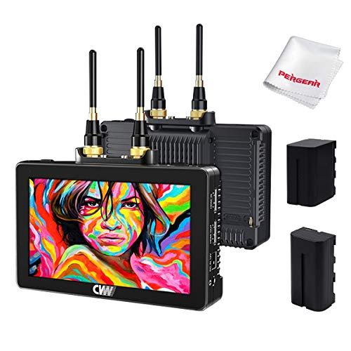 CVW Swift Z de 5.5 ″ con Pantalla táctil HDMI HDR Monitores con módulos de transmisión inalámbricos incorporados, Alcance de 800 pies, con Kit de batería (TX + RX)