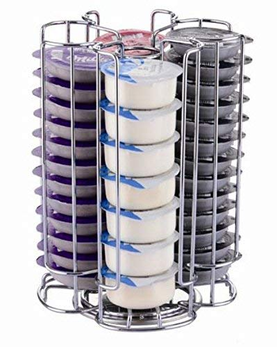 Ducomi - Portacápsulas Tassimo compatible con cápsulas de café T-Disc Tassimo – Accesorios de cocina mesa para cafeteras expreso – Dispensador porta cápsulas Idea regalo (52 cápsulas giratorias)