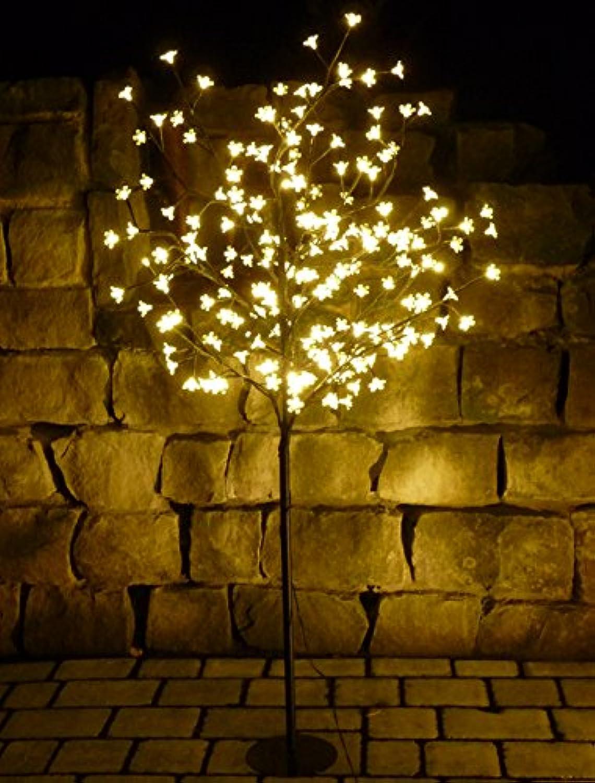 LED BAUM XXL mit 180 BLüTEN in WARMWEISS Hhe 150cm für AUSSEN oder INNEN