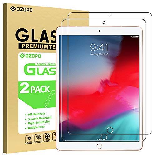 GOZOPO Displayschutzfolie für iPad 9.7 (iPad 6. / 5. Generation - Modell 2018/2017) / iPad Air 1, iPad Air 2, [kratzfest] [2.5D Rand] iPad Pro 9.7 Panzerglasfolie